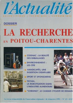 L'Actualité scientifique, technique, économique Poitou-Charentes n° 15